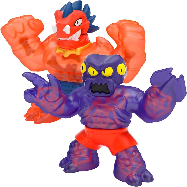 Heroes of Goo Jit Zu Dino Power Versus Pack - 2 Action Figures - Volcanic Rumble - Blazagon vs. Redback | Includes 2 Exclusive Heroes | for Ages 3+