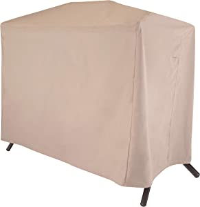 Modern Leisure 2922 Chalet Two Seater Patio Canopy Swing Cover (87 L x 64 D x 66 H inches) Water-Resistant, Khaki/Fossil