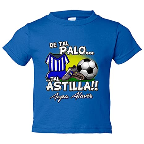 Camiseta niño De tal palo tal astilla Alaves fútbol - Azul Royal, 3-4