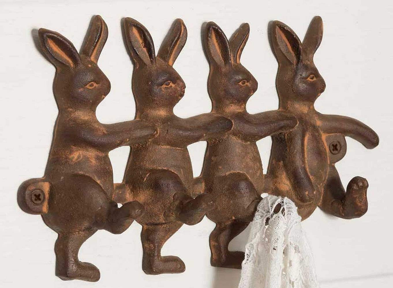 Vintage Rustic Inspired Rabbits Wall Hook