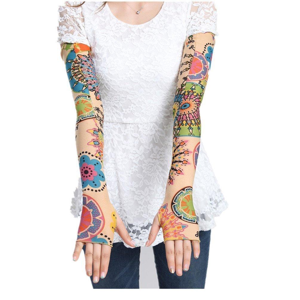 NUNOFOG Corgi Unisex Summer Arm Cover Sleeves Long Fingerless Sun-proof Anti-UV Long Gloves For Outdoor