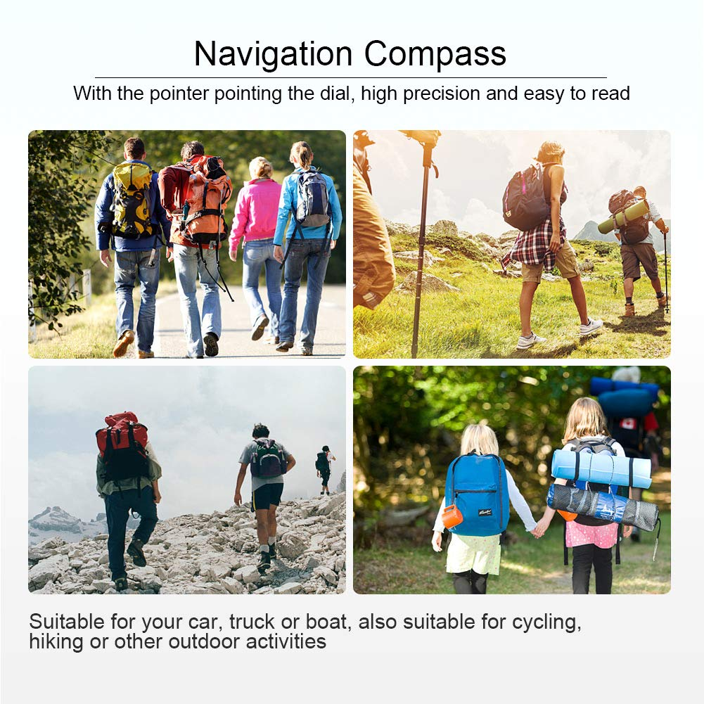 KIMISS Adjustable Dash Mount Compass Navigation Hiking Direction Pointing Guide Ball For Marine Boat Truck Auto Car Outdoor