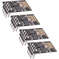 Crazepony-UK 4pcs ESP8266 Esp-01 Serial Wireless Wifi Transceiver Module Compatible with Arduino