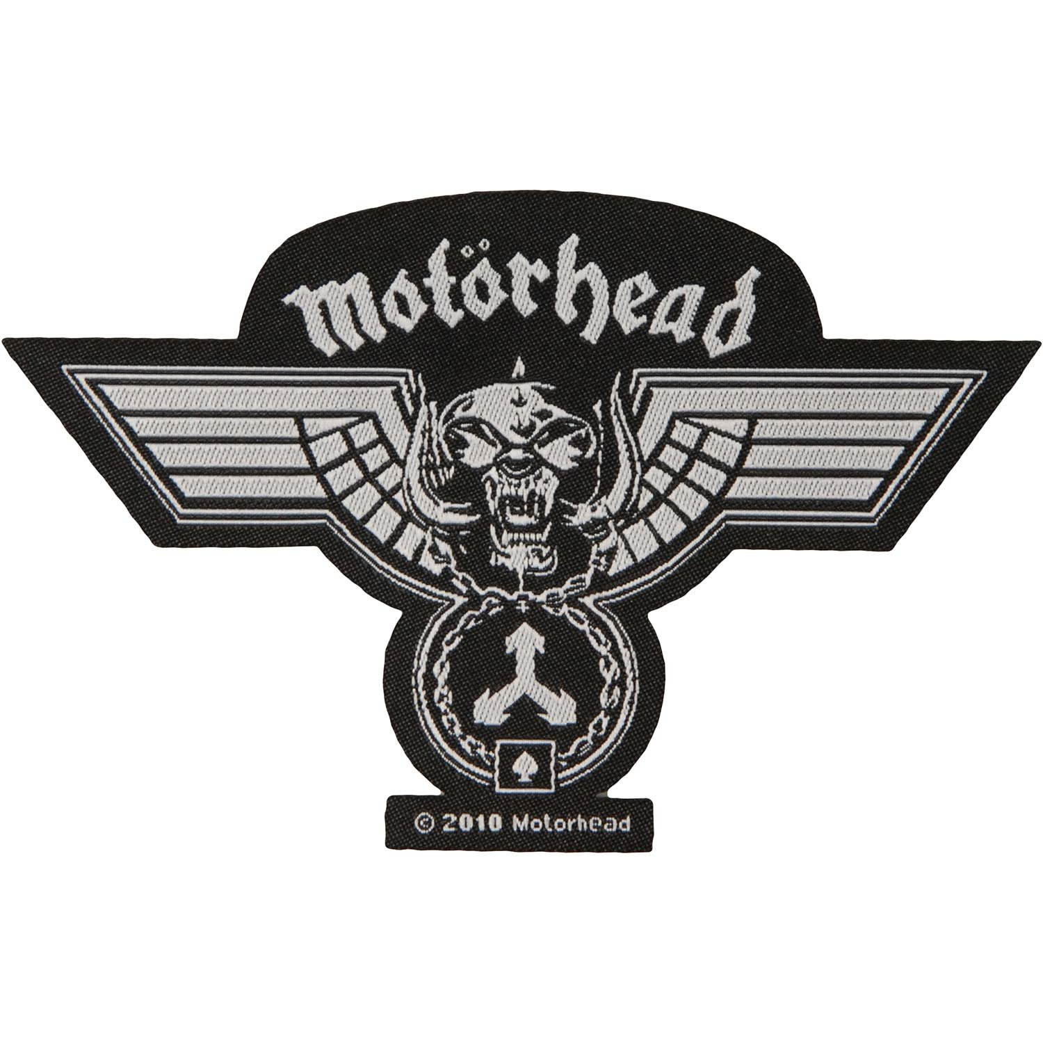 Motorhead Hammered Cut Out Patch War Pig Medal Heavy Metal Woven Sew On Applique RAZAMATAZ