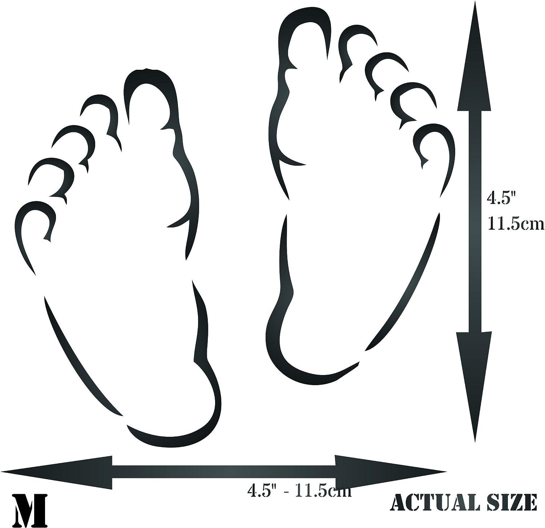 Baby Feet Stencil, 4.5 x 4.5 inch (M