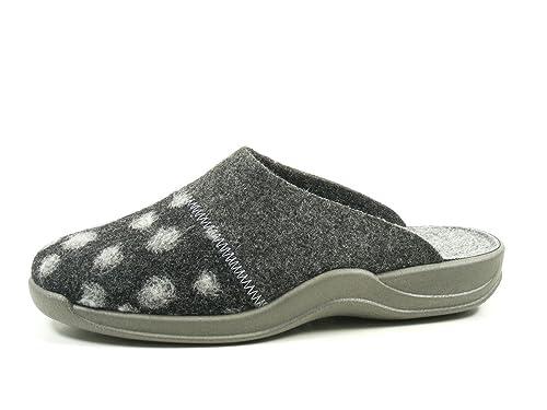 Rohde 2304-82 Vaasa-D Schuhe Damen Hausschuhe Pantoffeln Filz Weite G,  Schuhgröße be10c786be
