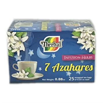 Amazon Com Te 7 Azahares 25 Sobres Cafeine Free Tea Therbal