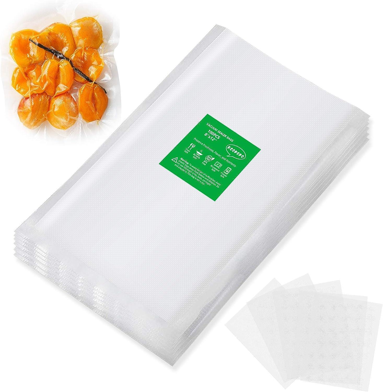 Vacuum Sealer Bags,Food Sealer Bags,100 Pint 8x12