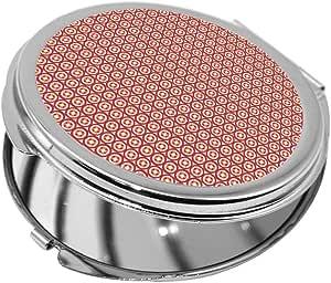 مرآة جيب، بتصميم رسوم زخرفية دوائر ، شكل دائري