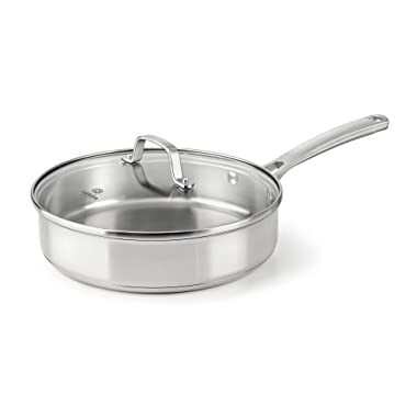 Calphalon Classic Stainless Steel Cookware, Saute Pan, 3-quart