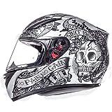 MT Revenge Skull & Roses - Casco de Moto, Negro y Rojo ...