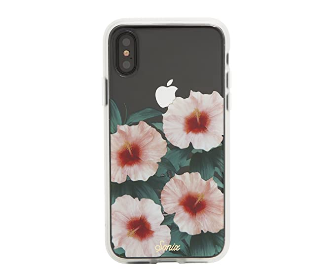 super popular 97854 cb395 Sonix TROPICAL BLOOM (pink hibiscus) Cell Phone Case [Military Drop Test  Certified] Protective Clear Case for Apple iPhone X, iPhone XS