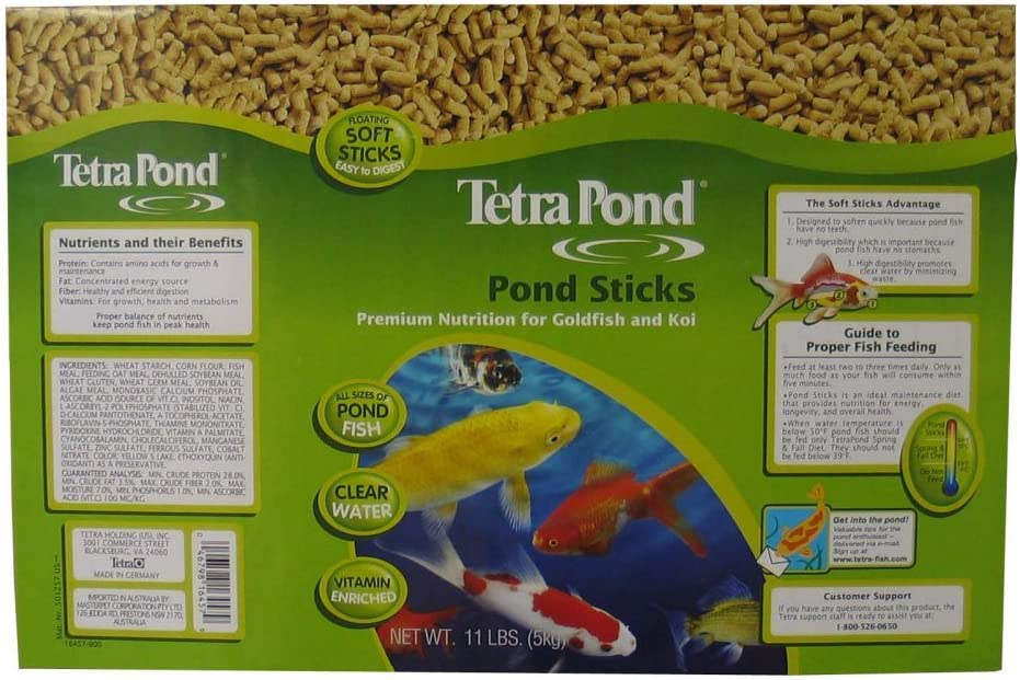 Tetra Pond 16457 11 Lb Pond Sticks Fish Food