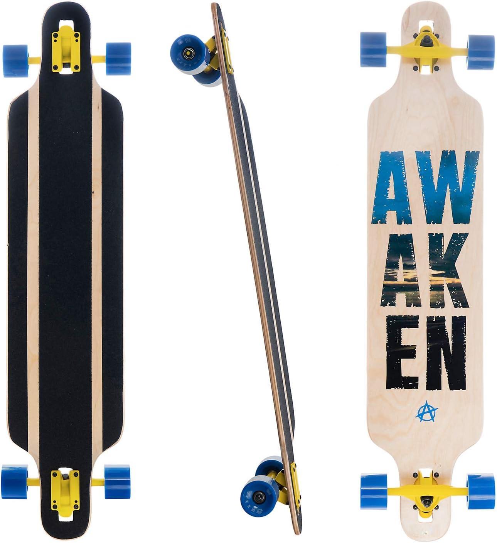 Awaken 42 x 9.25 Inch Drop Through Longboard for Freeride Downhill and Cruise