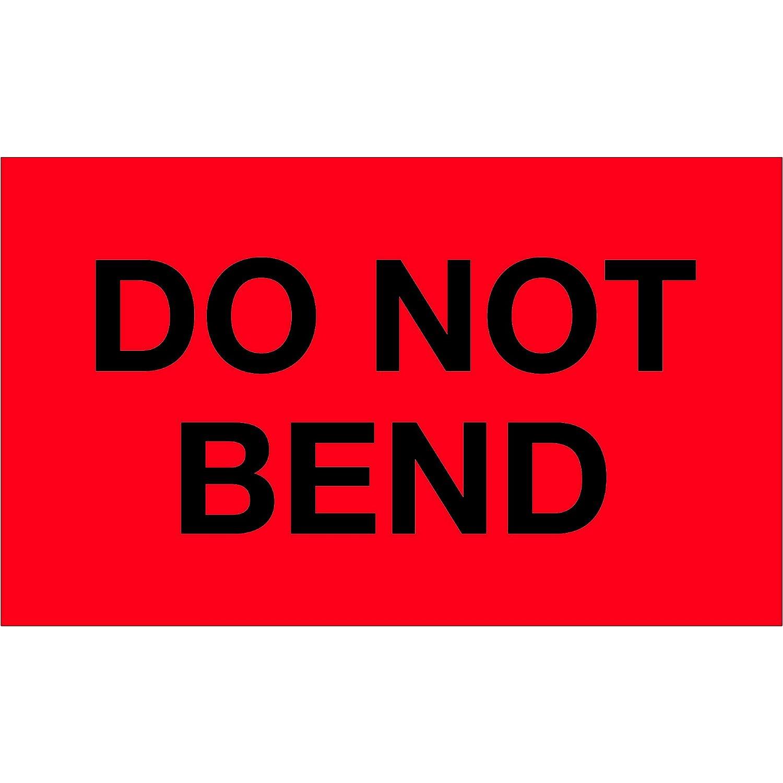1 Roll of 500 Labels 3 x 5 Tape Logic TLDL1087 LabelsDo Not Bend Fluorescent Red
