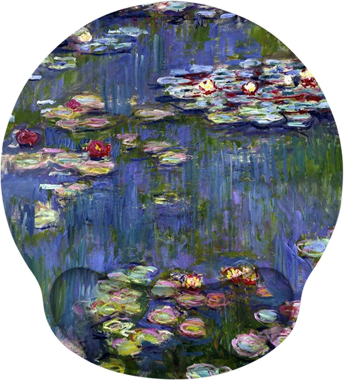 Mouse Pad Wrist Rest Support, ToLuLu Gel Mouse Pads with Non-Slip Rubber Base Memory Foam Mousepad, Mouse Wrist Rest Pad for Laptop Computer Home Office Working Gaming Pain Relief, Monet Water Lilies
