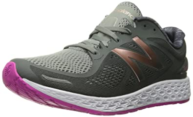 New Balance Women's Fresh Foam Zante v2 Running Shoe, Grey/Pink, ...
