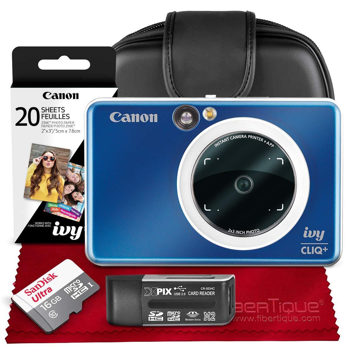 Canon Ivy CLIQ+ Impresora de cámara instantánea (Azul Zafiro ...