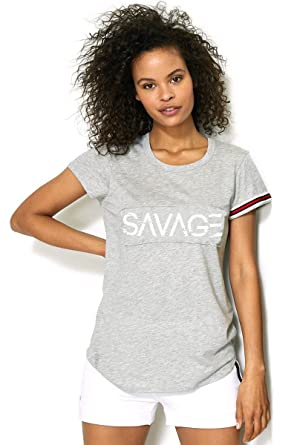 7276593c Image Unavailable. Image not available for. Color: Love Over H8 Apparel  Savage Slim Tee - Grey