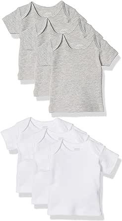 Amazon Essentials 6-Pack Lap-Shoulder tee Unisex bebé, Pack de 6