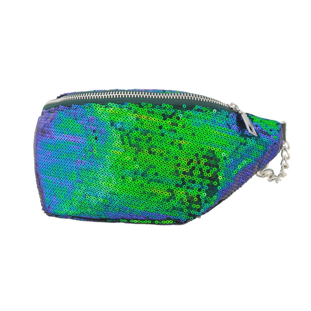NaimoマーメイドスパンコールファニーウエストパックGlitterバッグ調節可能なストラップ付き B07CZX63DY ブルー