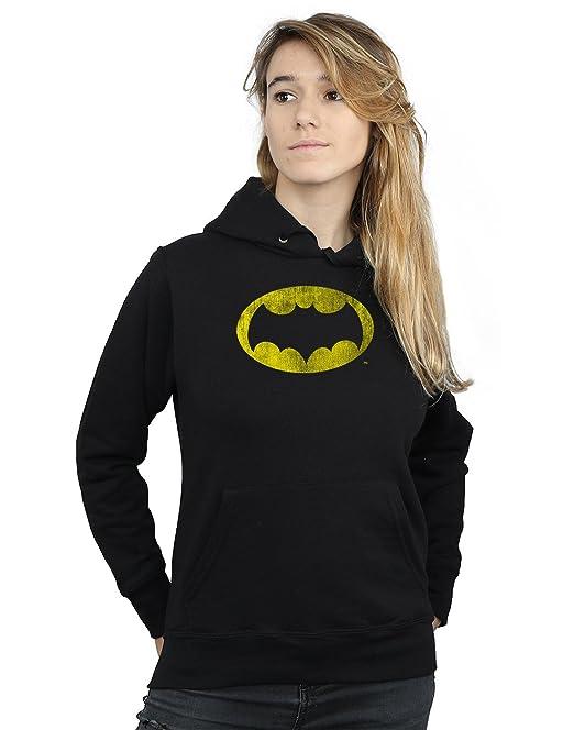 DC Comics Mujer Batman TV Series Distressed Logo Capucha: Amazon.es: Ropa y accesorios