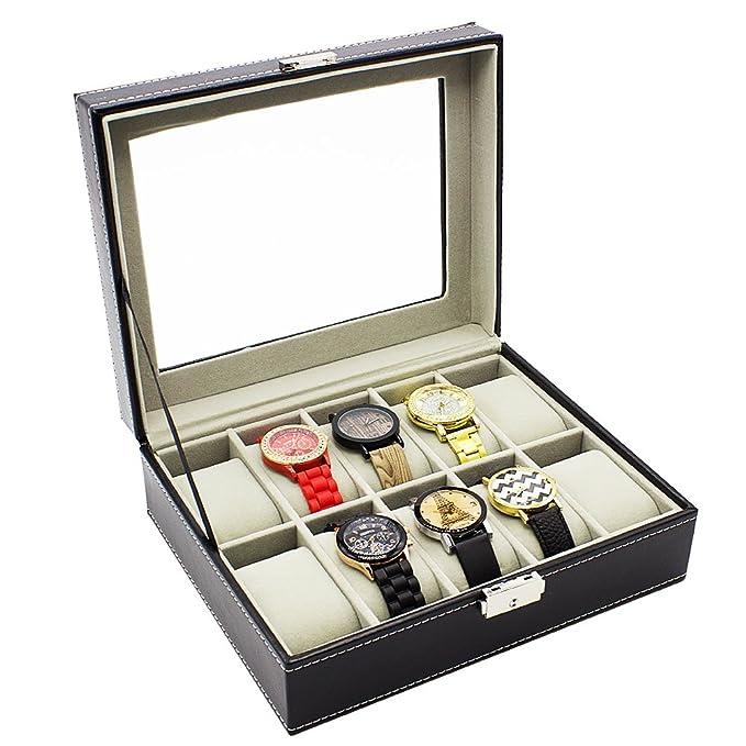 4 opinioni per HBF Porta Orologi in Pelle di PU Scatola Porta Orologio Vintage Espositore