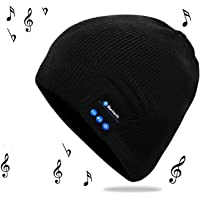 Bluetooth Hat, Unisex Bluetooth Beanie Hat with Built-in Stereo Speakers & Microphone, Fit for Outdoor Sports, Skiing,Running, Skating, Unique Christmas Tech Gifts for Teen Young Boys Girls Men