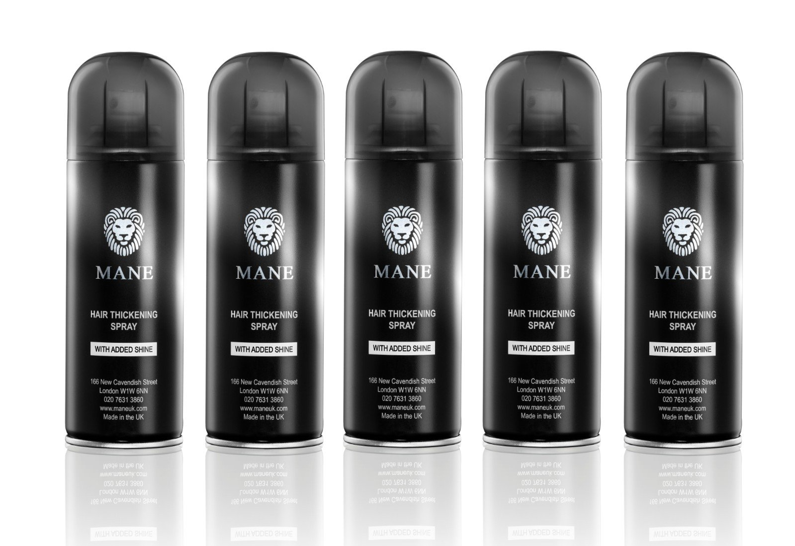 Mane America Hair Thickening Spray with Added Shine (5 Pack) (Grey)