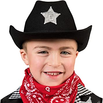 mágica Clown – Sombrero de cowboy con Sheriff Estrella de disfraz ...
