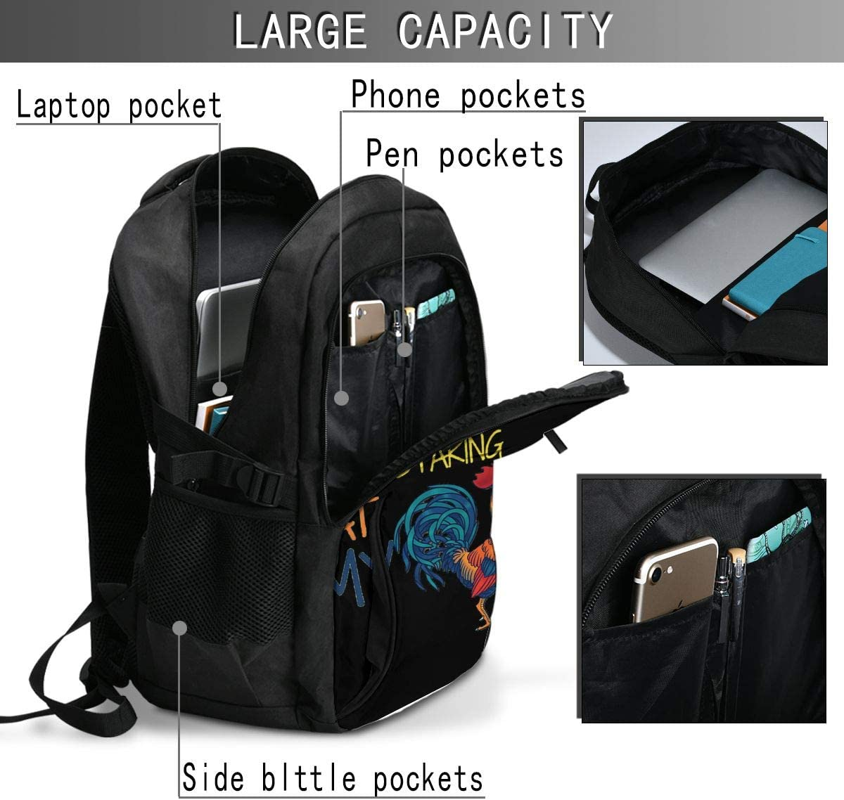 Fits For13,16 Inch Laptop USB Charging Port Traveling Backpack Student College Bag