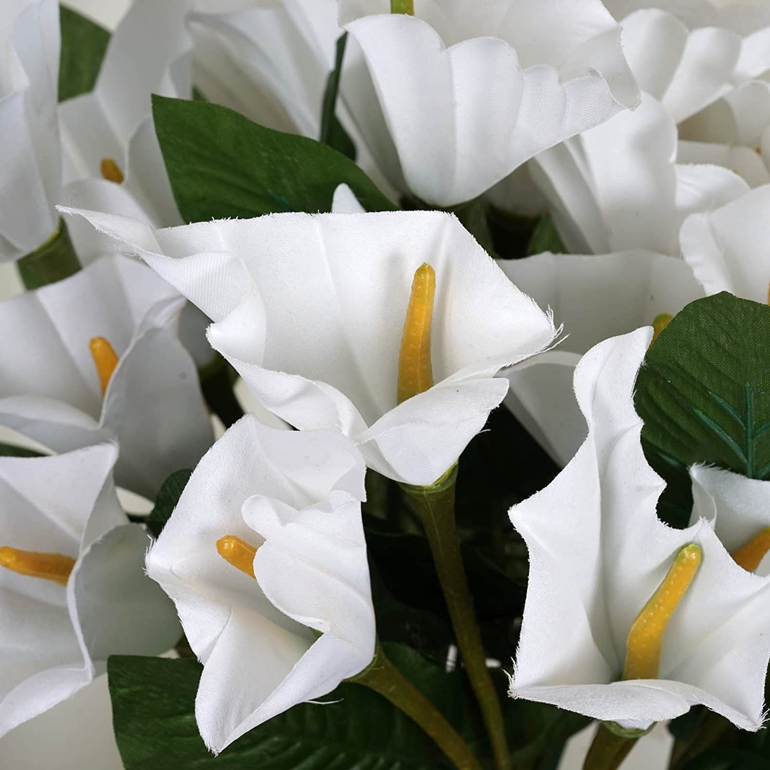 Amazon Balsacircle 84 White Silk Calla Lilies 12 Bushes