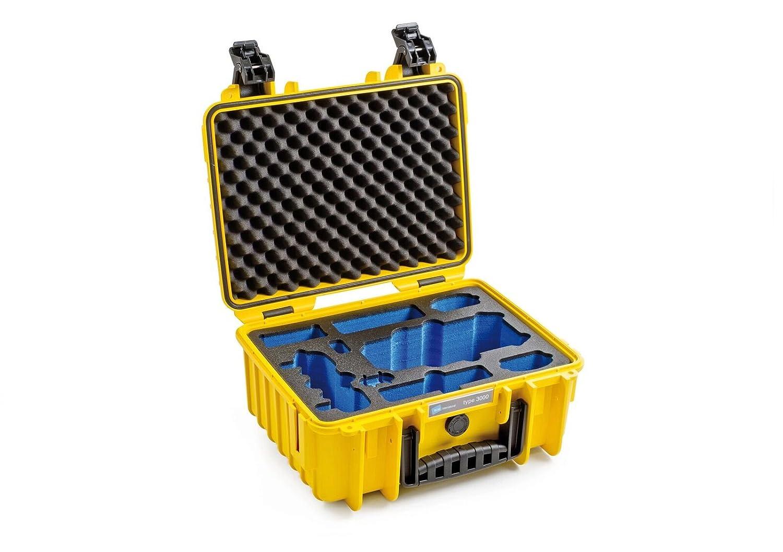 B&W 3000/Y/MAVIC Funda de dron con cámara Estuche Duro Amarillo ...