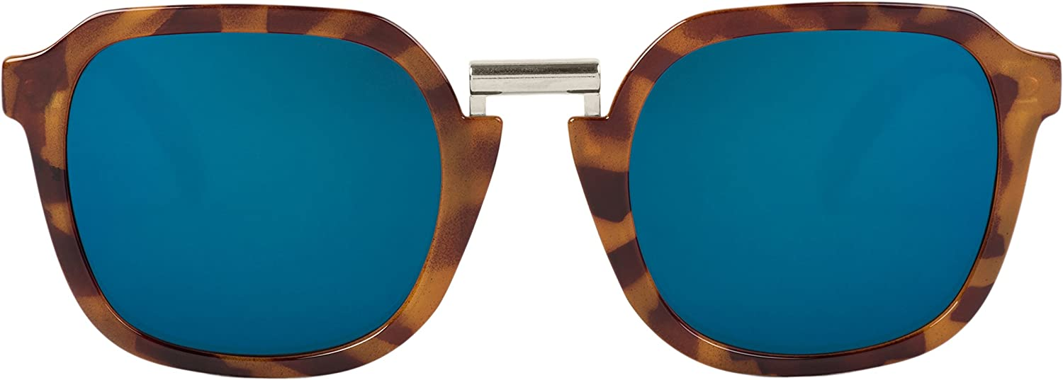 MR, Leo tortoise bushwick with dark blue lenses - Gafas De Sol unisex multicolor (carey), talla única