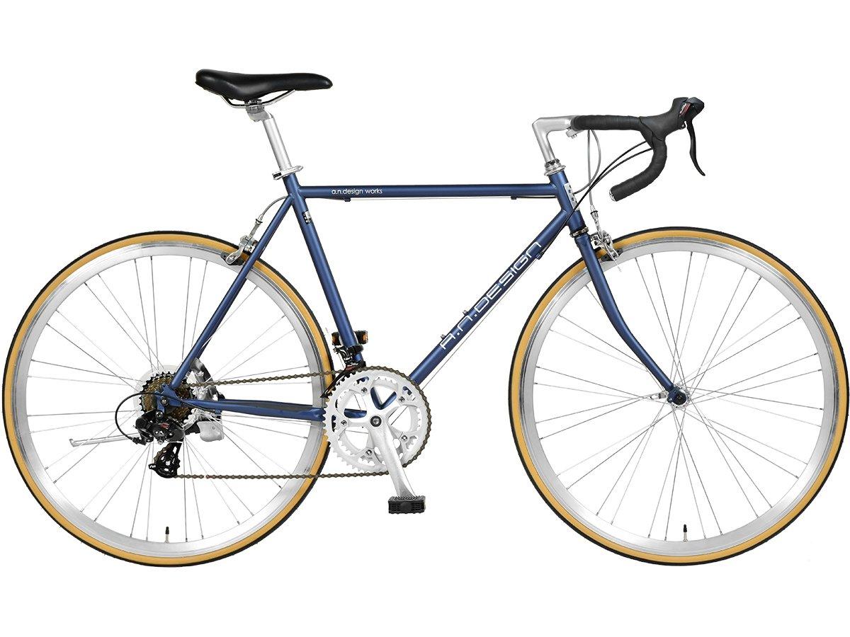【a.n.design works】(エーエヌデザインワークス) DRC マットブルー 700c 160cm~ B079Z5GFKX