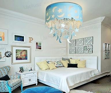 Blauer Mond Und Sterne Kinderzimmer Kristall Decke Wohnzimmer Kronleuchter  Schlafzimmer Jungen Und M?dchen LED