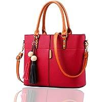 Fargo Flames PU Leather Women's Satchel Handbag (Red_FGO-127)