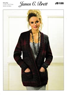 Ladies Cardigans and Waistcoats JB247 Knitting Pattern from James C ... a34f8fc43
