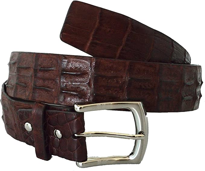"Size 34 36 38 40 S-XL NEW Real Crocodile alligator Brown black 1/"" leather Belt"