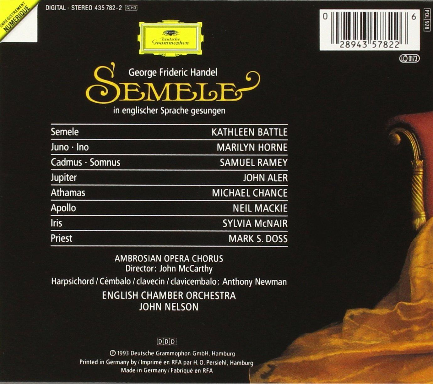 Handel: Semele by Deutsche Grammophon