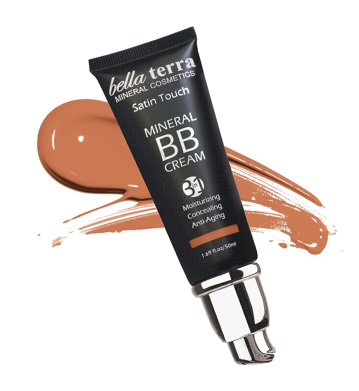 Bella Terra BB Cream 3-in-1 Tinted Moisturizer - Buildable Coverage - Light to Dark Skin Tones- with Natural SPF- Mineral Makeup Foundation- Hypoallergenic (1.69 Oz) (Medium Tan b 105) Bella Terra Cosmetics