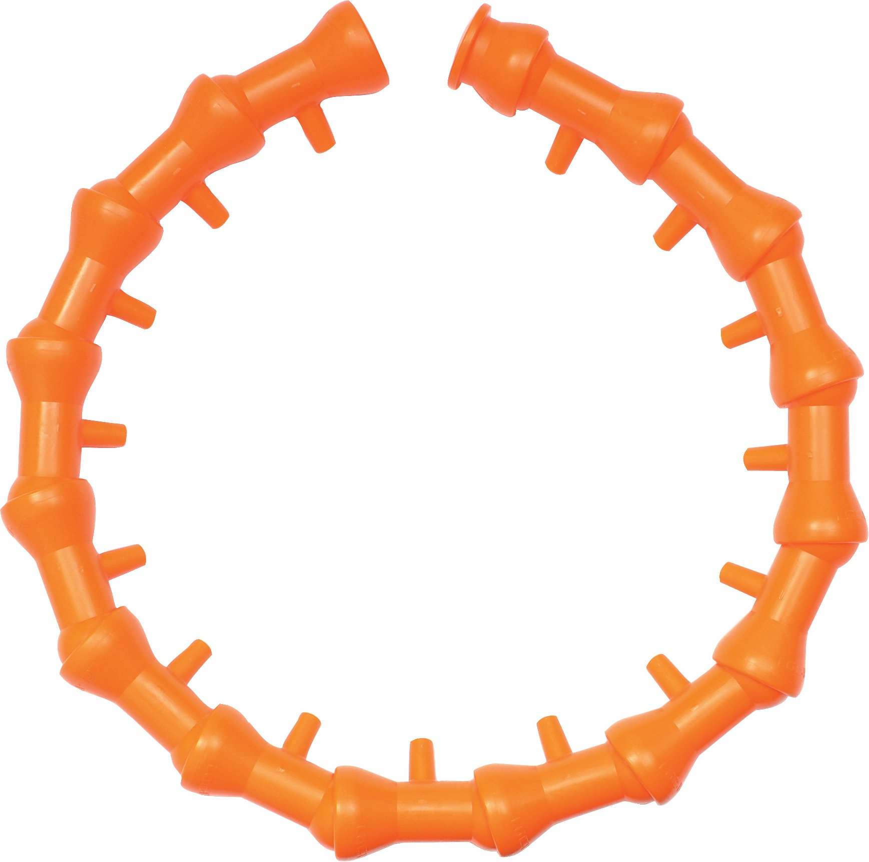 Loc-Line Coolant Hose Circle Flow Nozzle Kit, 16 Piece, 1/2'' Hose ID