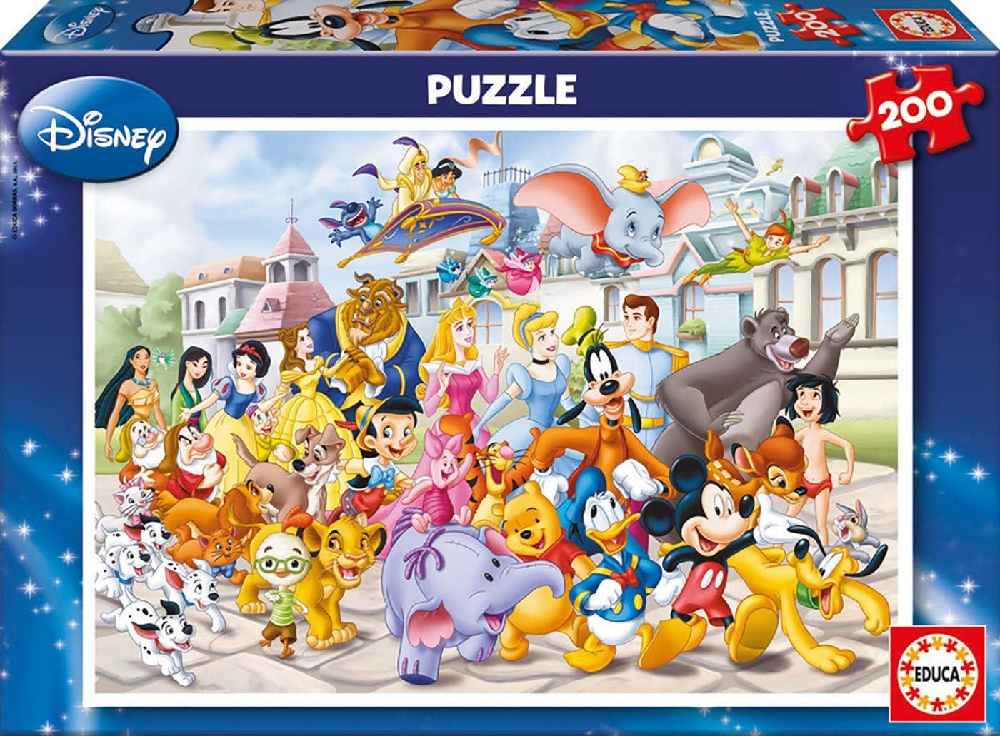 Educa- Desfile Disney Puzzle infantil de 200 piezas, a partir de 6 años (13289)