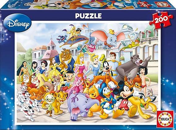 Educa- Desfile Disney Puzzle infantil de 200 piezas, a partir de 6 años (13289): Amazon.es: Juguetes y juegos