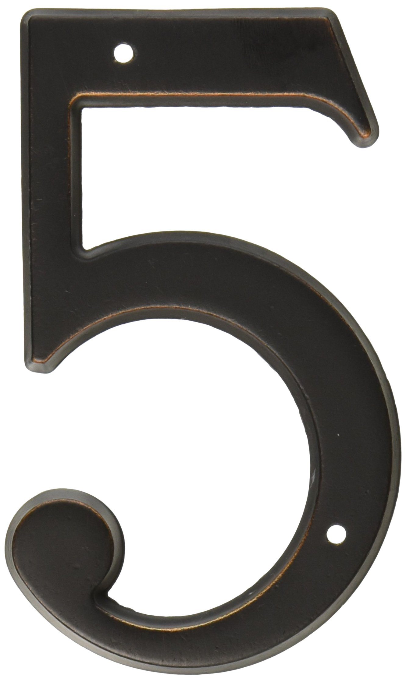 Baldwin 90675412 75 # 5 House Number, Distressed Aged Bronze