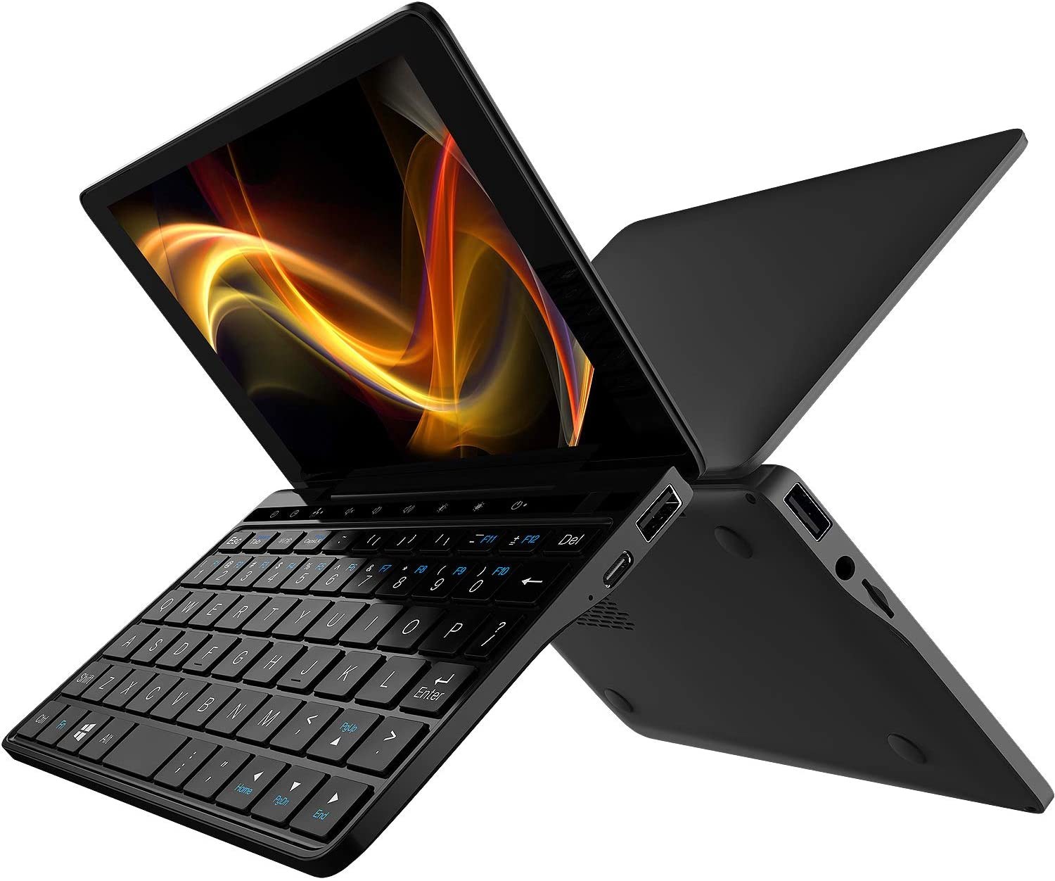 "GPD Pocket 2 Amber Black [Latest Update-256GB SSD Version] 7"" Touch Screen Windows 10 Mini Portable Laptop UMPC Tablet PC CPU Intel Celeron Processor 3965Y lntel HD Graphics 615 8GB RAM/256GB ROM"