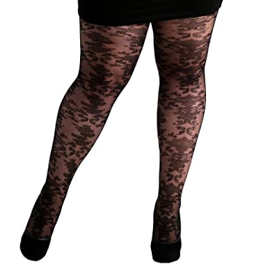 ee6cfa6b9 Plus Size Baroque Lace Tights at Amazon Women s Clothing store