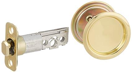 Exceptional Kwikset 334 Round Hall/Closet Pocket Door Lock In Polished Brass