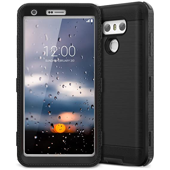 buy popular 160a7 535aa LG G6 Case, CinoCase LG G6 Plus Case Heavy Duty Rugged Armor Protective  Case Hybrid TPU Bumper Shockproof Case with Brushed Metal Texture Hard PC  Back ...