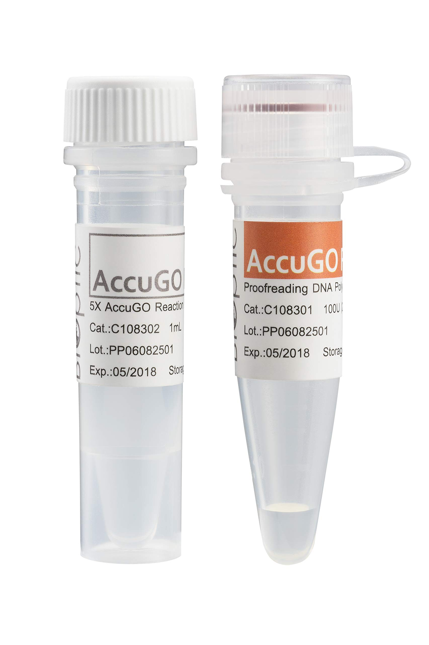 BiOptic, AccuGO Pfu Proofreading DNA Polymerase (Including 5X Accugo Reaction Buffer) (C108300), Short Extension Time, High Yield PCR Products, Good Performance in GC Rich Template for PCR by BiOptic